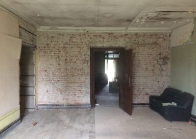 Before - the library and dry rot